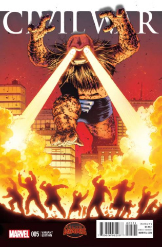 Civil War #5 (Cassaday Kirby Monster Cover)