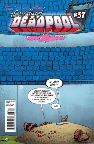 Deadpool #37 (Rocket Raccoon & Groot Cover)