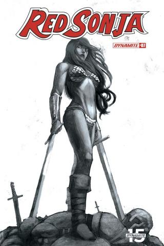 Red Sonja #7 (50 Copy Bob Q Seduction B&W Cover)
