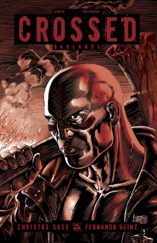 Crossed: Badlands #95 (Red Crossed Cover)