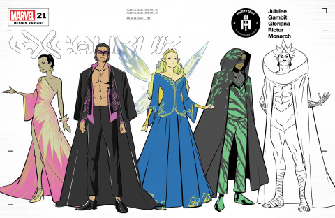 Excalibur #21 (To Character Design Cover)