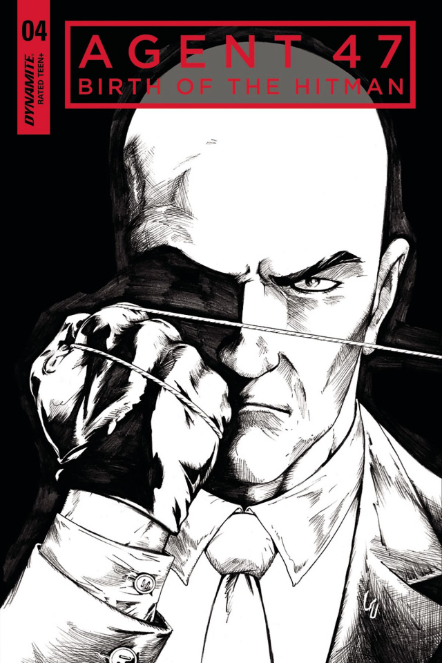 Agent 47: Birth of the Hitman #4 (10 Copy B&W Cover)