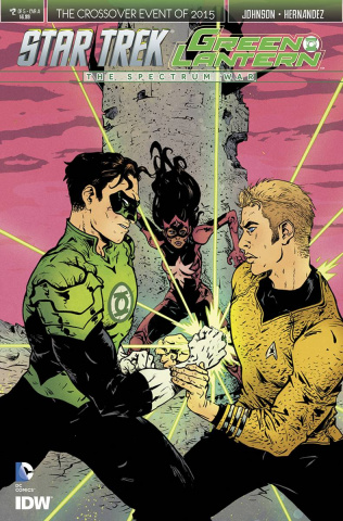 Star Trek / Green Lantern #2 (Pope Cover)