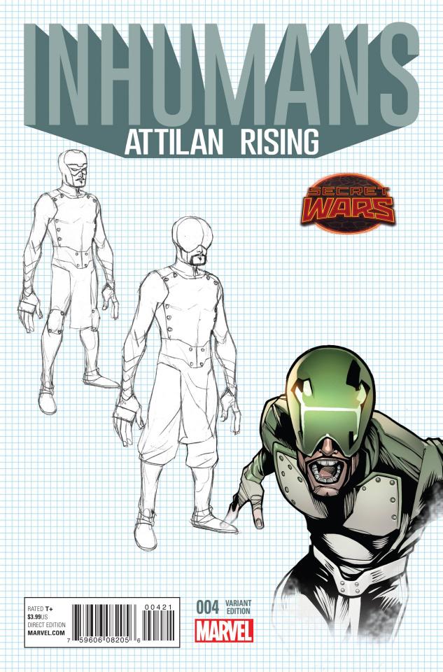 Inhumans: Attilan Rising #4 (Design Cover)
