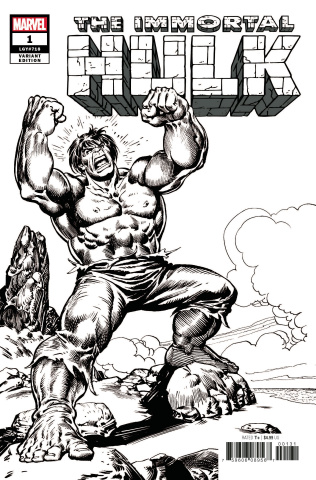 The Immortal Hulk #1 (Buscema B&W Remastered Cover)