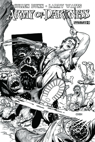 Army of Darkness #3 (15 Copy Chen B&W Cover)