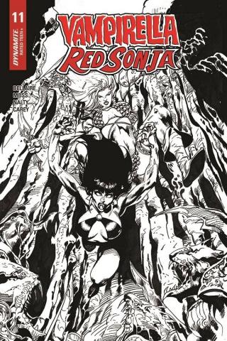 Vampirella / Red Sonja #11 (7 Copy Castro B&W Cover)