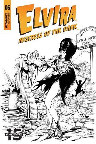 Elvira: Mistress of the Dark #6 (15 Copy Castro B&W Cover)