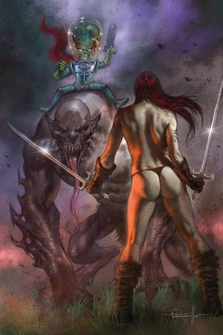 Mars Attacks / Red Sonja #2 (Parrillo Virgin Cover)