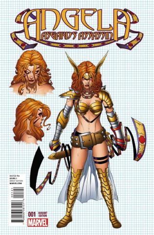 Angela: Asgard's Assassin #1 (Quesada Design Cover)