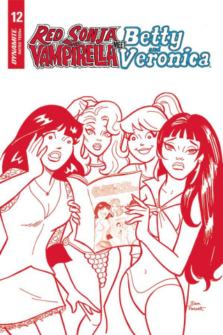Red Sonja and Vampirella Meet Betty and Veronica #12 (15 Copy Parent Red Cover)