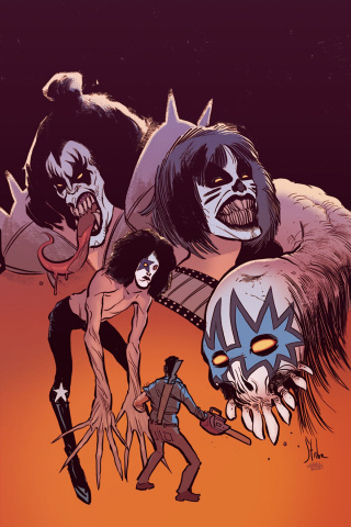 KISS / Army of Darkness #1 (40 Copy Strahm Virgin Cover)