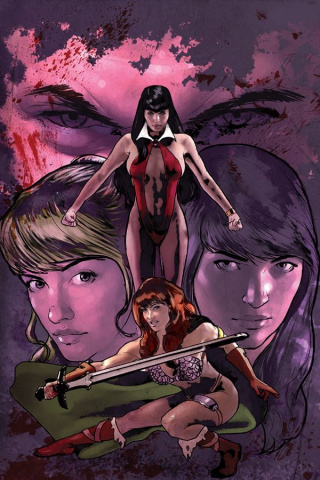 Red Sonja and Vampirella Meet Betty and Veronica #1 (Cosplay Virgin Cover)