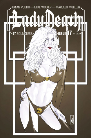 Lady Death #17 (Art Deco Variant Cover)