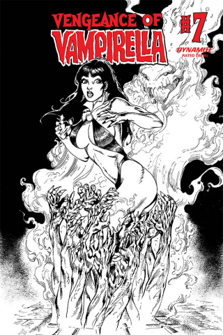 Vengeance of Vampirella #7 (11 Copy Castro B&W Cover)