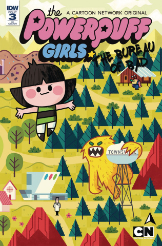 The Powerpuff Girls: The Bureau of Bad #3 (10 Copy Cover)