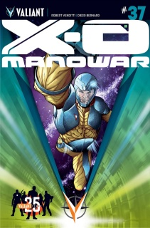 X-O Manowar #37 (25th Anniversary Sandoval Cover)