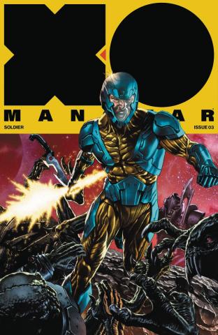 X-O Manowar #3 (20 Copy Interlocking Cover)