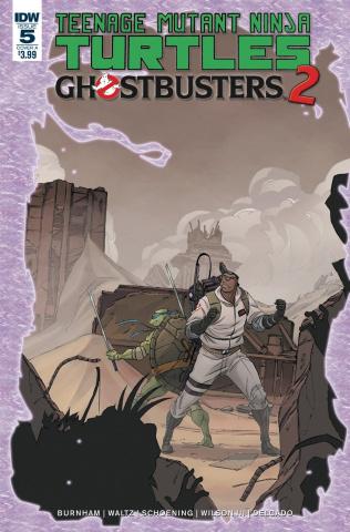 Teenage Mutant Ninja Turtles / Ghostbusters 2 #5 (Shoening Cover)