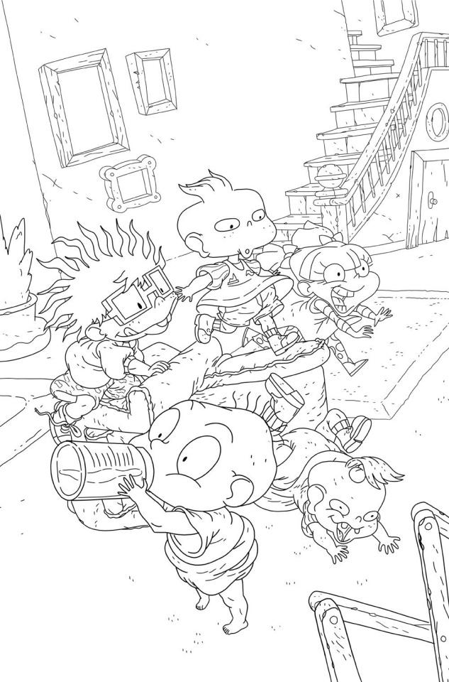 Rugrats #4 (Coloring Book Monlongo Cover)