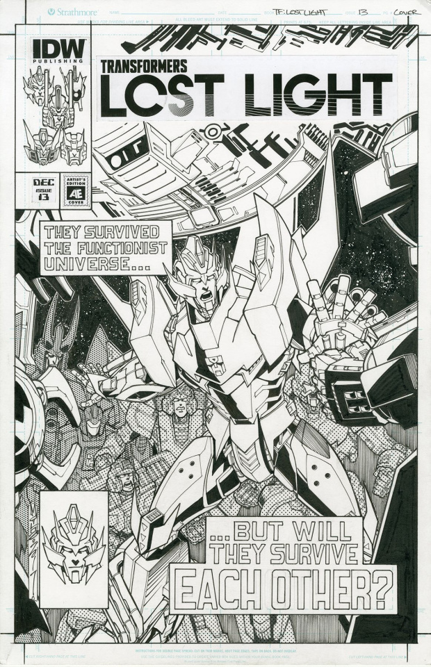 The Transformers: Lost Light #13 (Milne Cover)