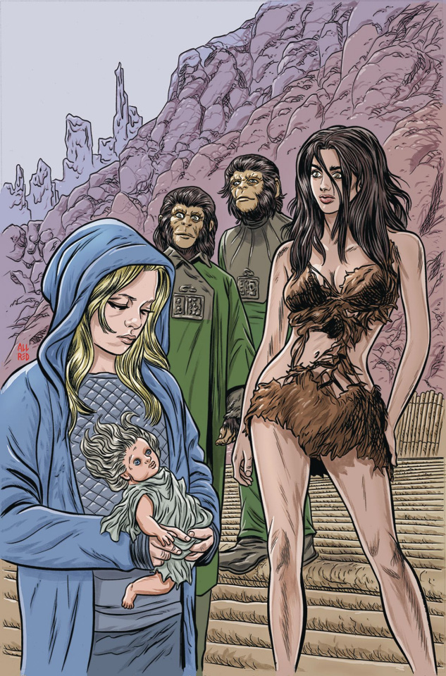 Planet of the Apes: Time of Man #1 (Virgin Allred Cover)