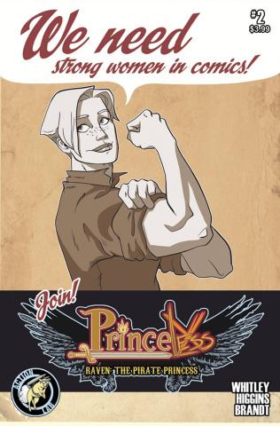 Princeless: Raven, The Pirate Princess #2 (Higgins & Brandt Cover)