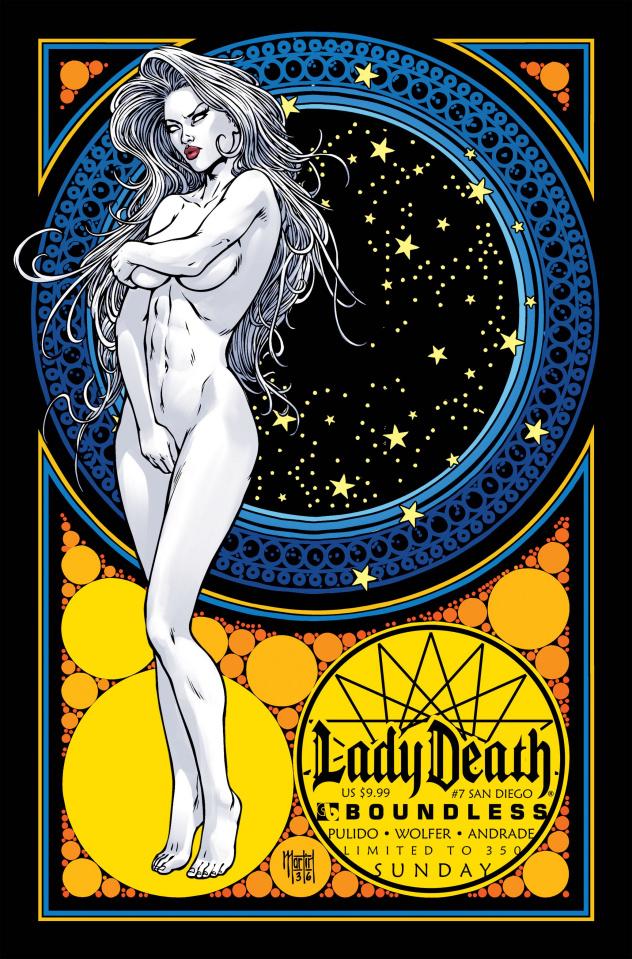 Lady Death #7 (San Diego Sunday Cover)