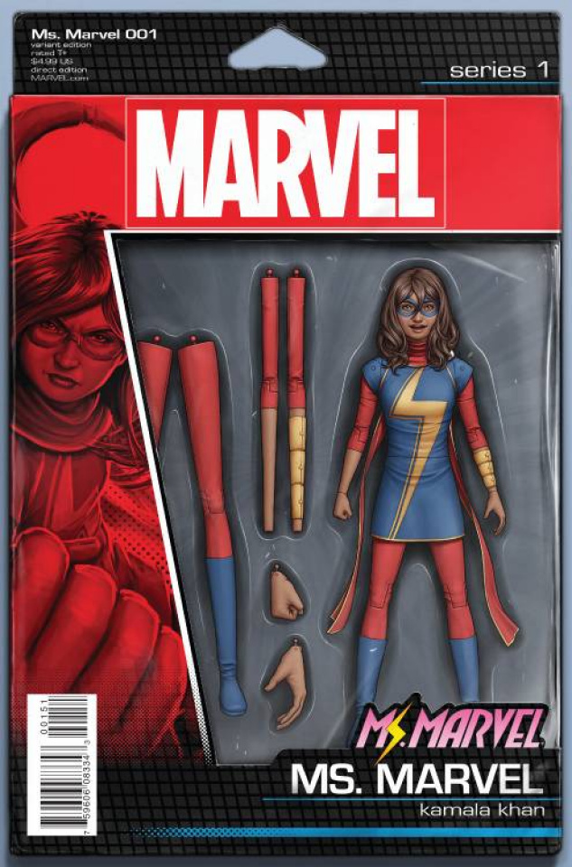 Ms. Marvel #1 (Christopher Action Figure Cover)