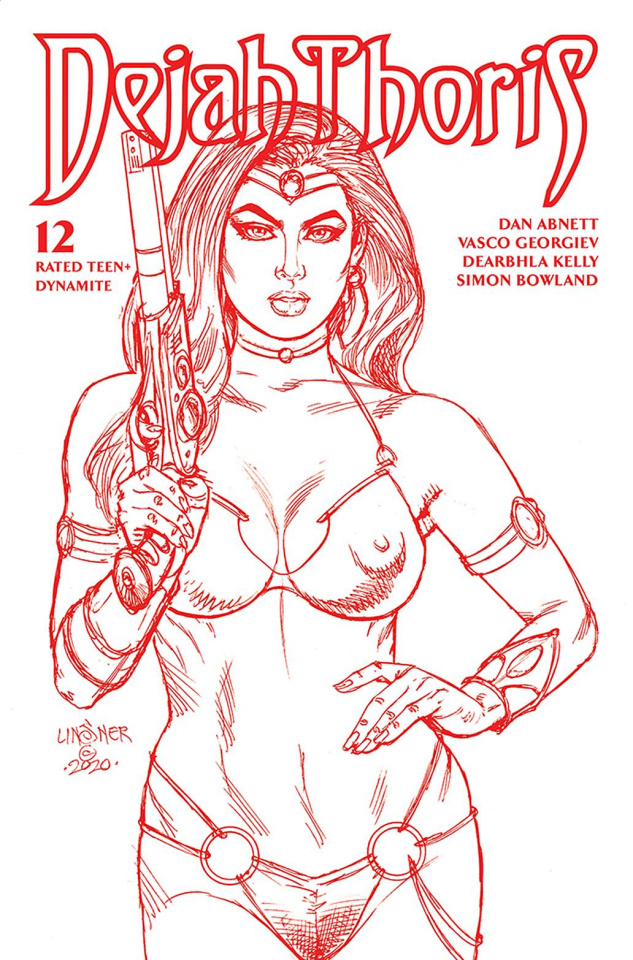 Dejah Thoris #12 (Linsner Rare Martian Red Cover)
