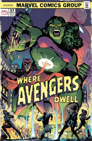 Avengers #37 (Rodriguez Where Avengers Dwell Horror Cover)
