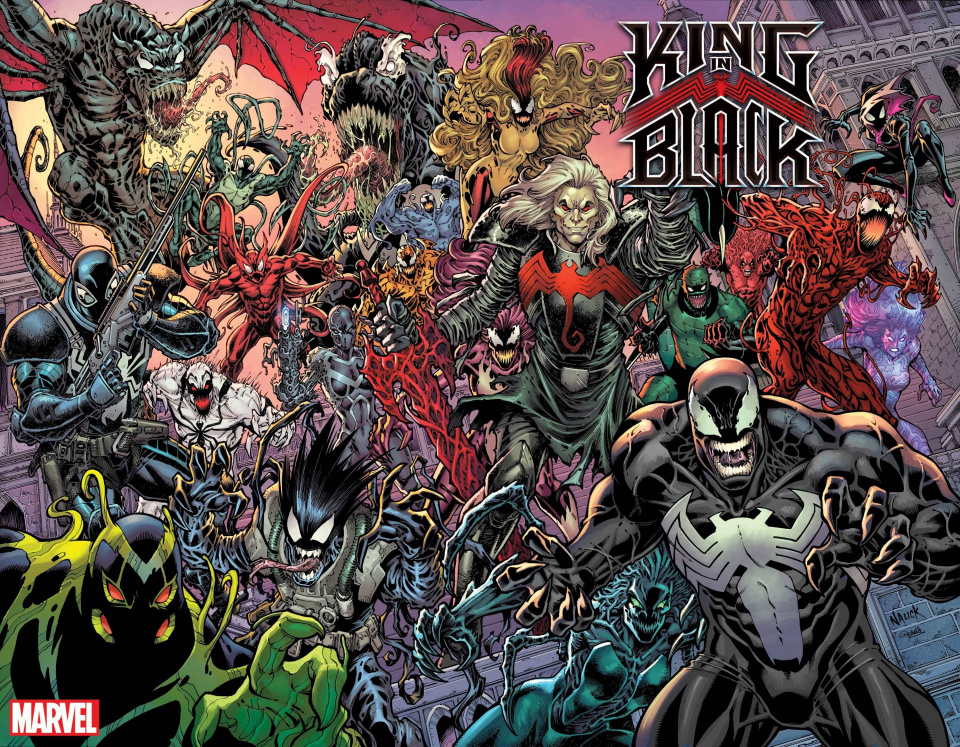 King in Black #1 (Nauck Every Symbiote Ever Cover)