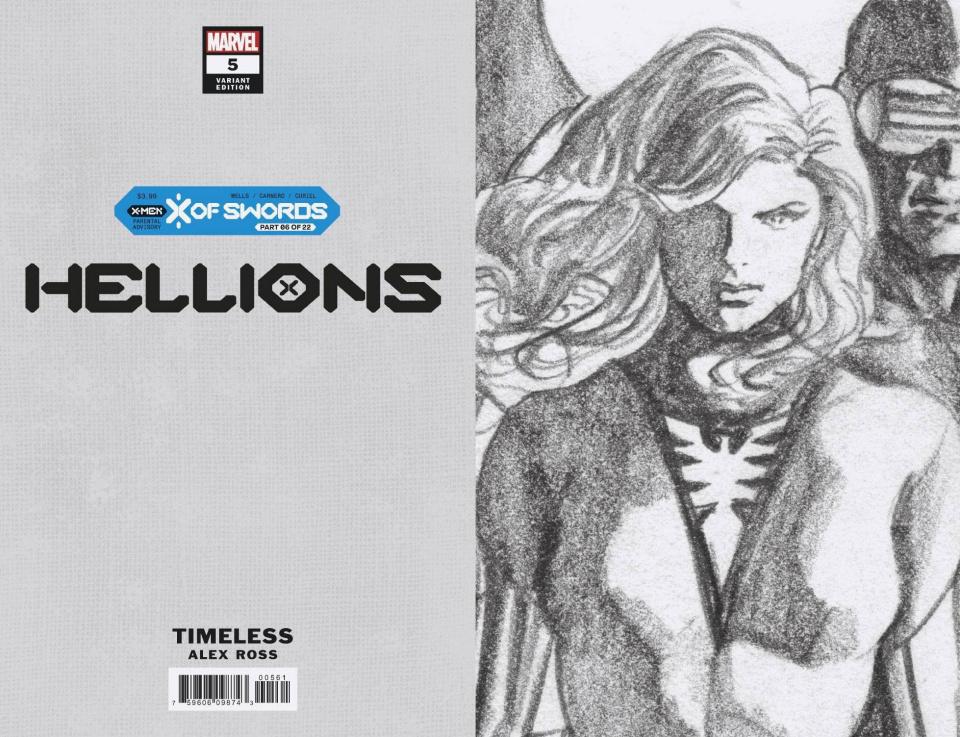 Hellions #5 (Alex Ross Phoenix Timeless Virgin Sketch Cover)
