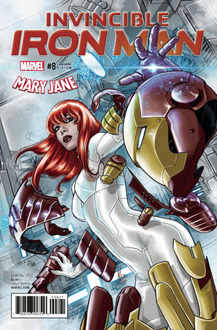 Invincible Iron Man #8 (Checcetto Mary Jane Cover)