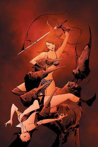 Vampirella / Red Sonja #10 (Lee Virgin Cover)