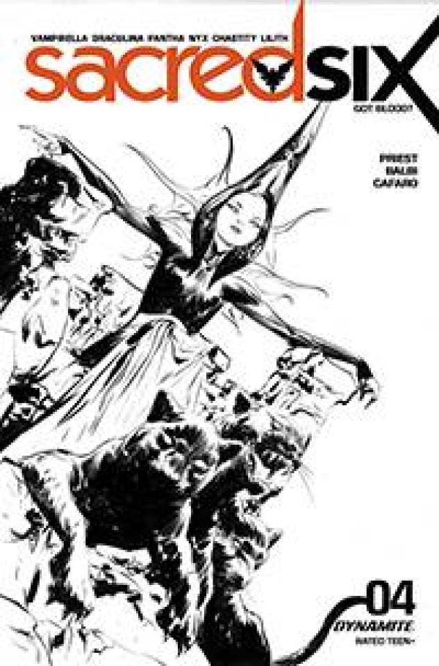 Sacred Six #4 (30 Copy Lee B&W Cover)