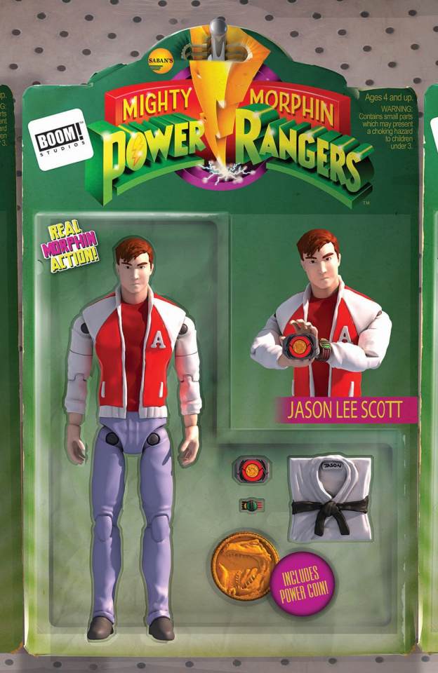 Mighty Morphin' Power Rangers #16 (Unlock Action Figure  Cover)
