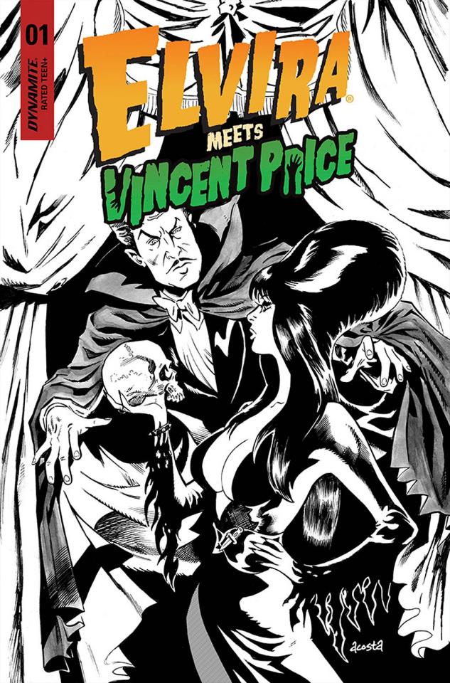 Elvira Meets Vincent Price #1 (25 Copy Acosta Line Cover)