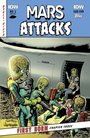 Mars Attacks First Born #3 (Subscription Cover)