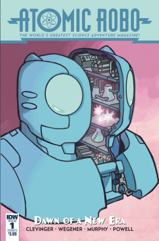 Atomic Robo and the Dawn of a New Era #1 (Wegener Cover)
