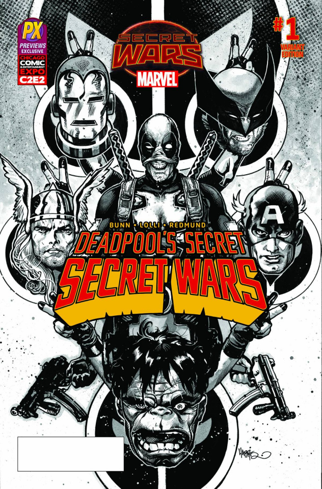 Deadpool's Secret Secret Wars #1 (C2E2 PX Inked Cover)