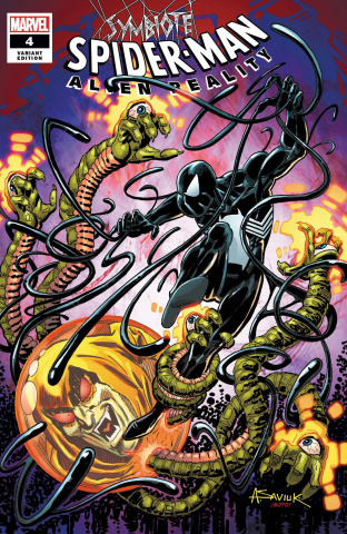 Symbiote Spider-Man: Alien Reality #4 (Saviuk Cover)