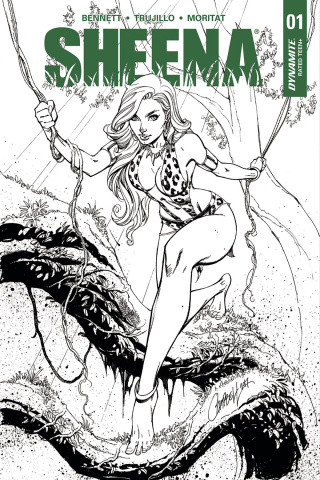 Sheena #1 (30 Copy Campbell B&W Cover)