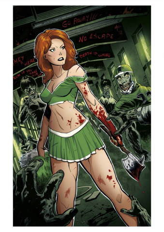 Zombies vs. Cheerleaders: 2015 St. Patty's Day #1 (Errico Cover)