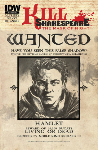 Kill Shakespeare: The Mask of Night #3 (Subscription Cover)