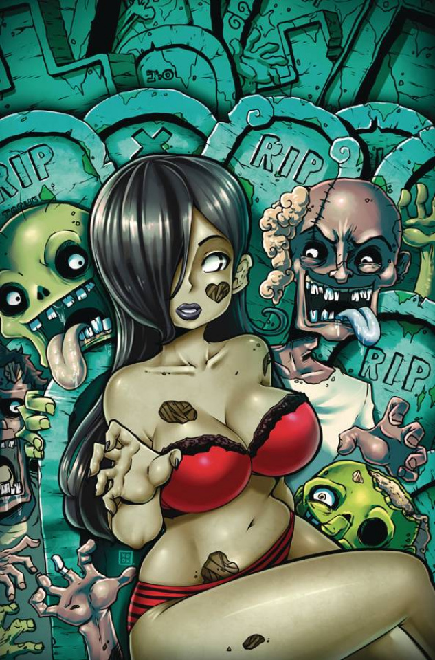 Zombie Tramp #76 (Toqueen Risque Cover)