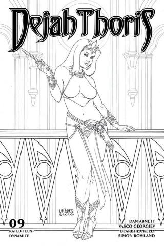 Dejah Thoris #9 (20 Copy Linsner B&W Cover)
