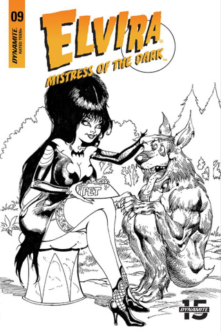 Elvira: Mistress of the Dark #9 (15 Copy Castro B&W Cover)