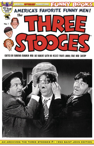 American Mythology Archives: The Three Stooges #1 (1953 B&W Photo Cover)