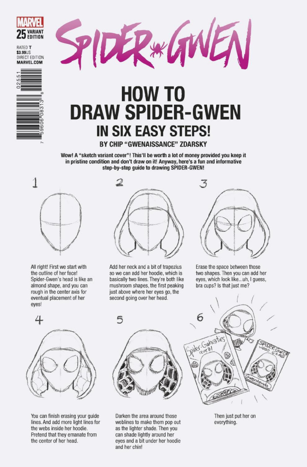 Spider-Gwen #25 (Zdarsky How To Draw Cover)